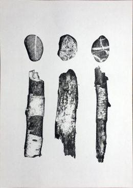 Sicks and Stones A3 Risograph Print